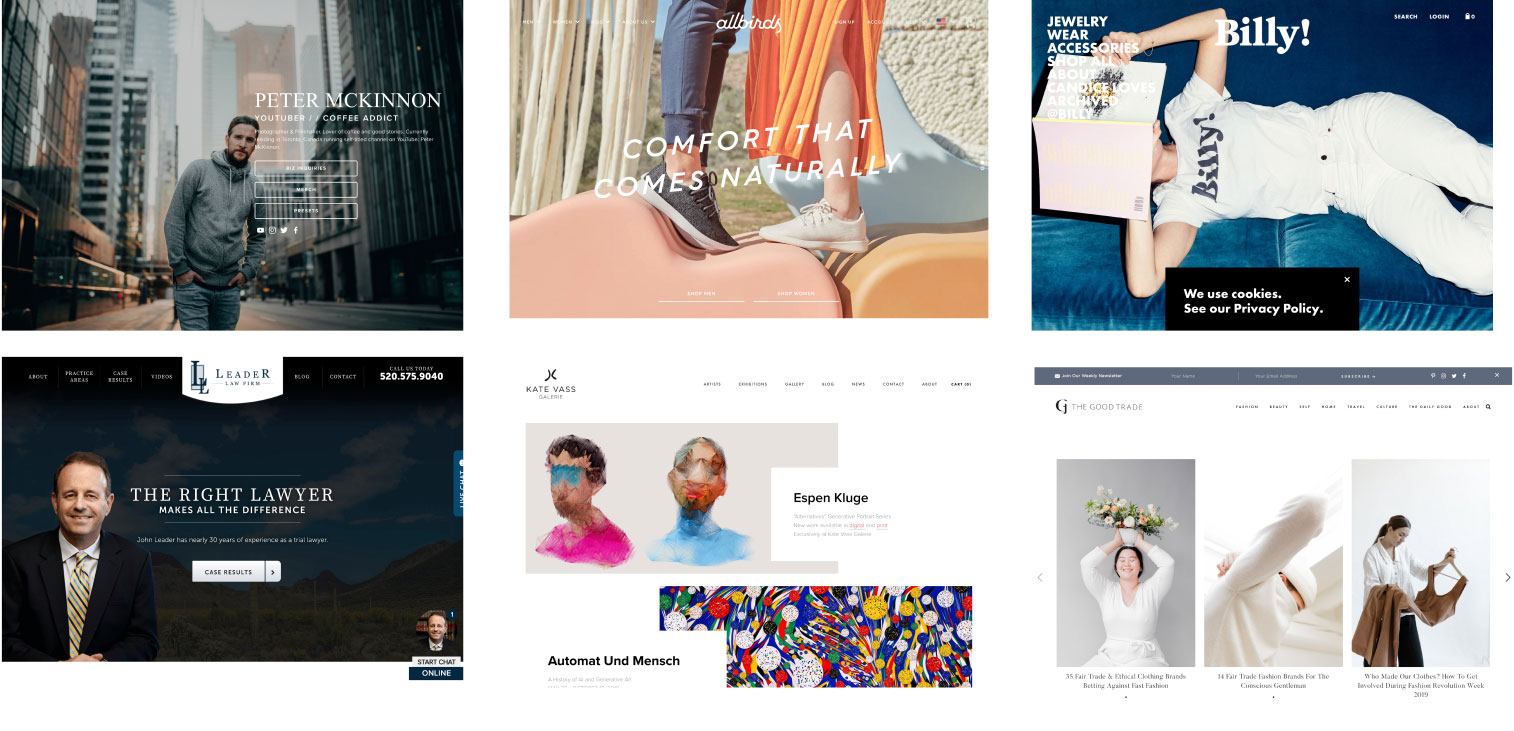 Homepage inspiration